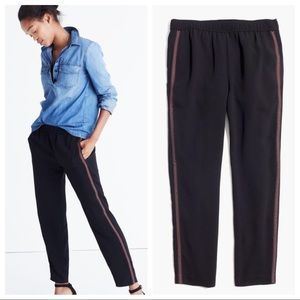 Madewell Black Embroidered Ankle Trousers